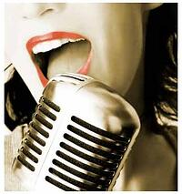 woman singing microphone vintage 525